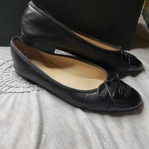 Chanel toe cap ballet flats size EU 40